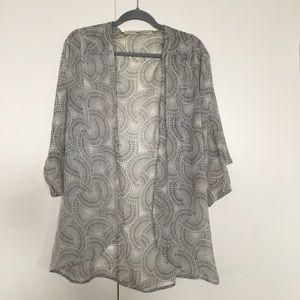 Beautiful gray and white kimono